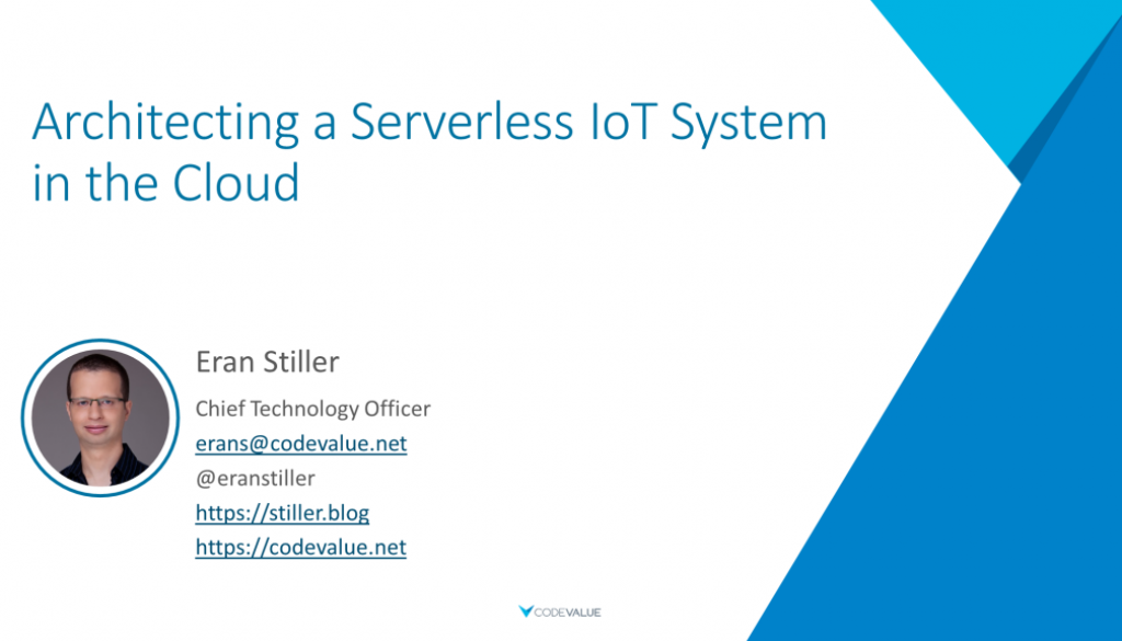 Architecting a Serverless IoT System in the Cloud Slide Cover