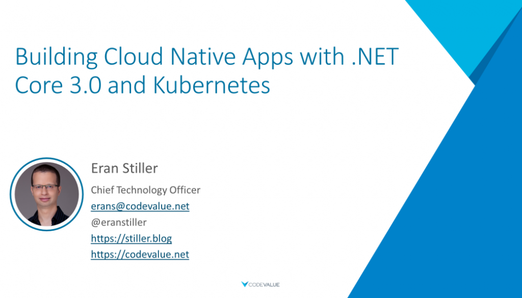 Building Cloud Native Apps with .NET Core 3.0 and Kubernetes Slide Cover