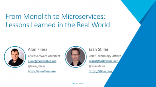 From Monolith to Microservices - Lessons Learned in the Real World Slide Cover