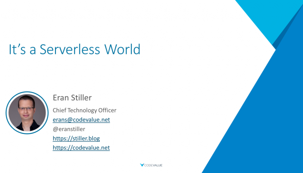 It's a Serverless World Slide Cover