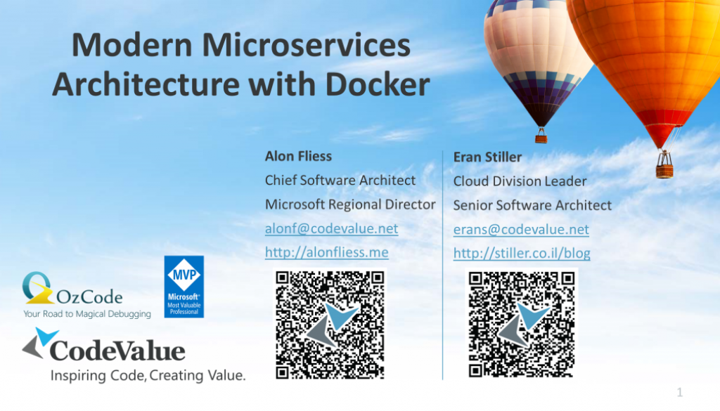 Modern Microservices Architecture with Docker Slide Cover
