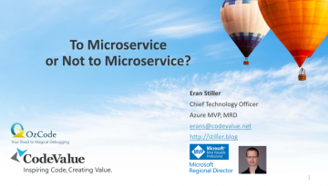 To Microservice or not to Microservice Slide Cover