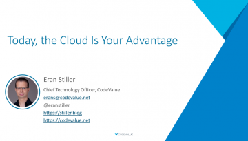 Today the Cloud Is Your Advantage Slide Cover