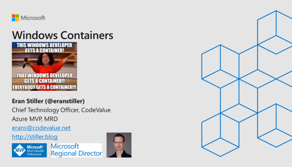 Windows Containers 2019 Slide Cover
