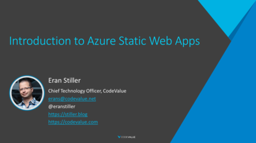 Introduction to Azure Static Web Apps